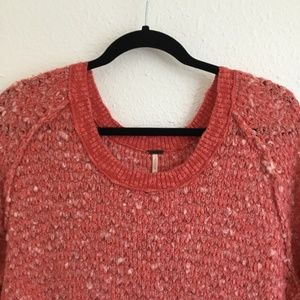 Free People Sweaters - Free People | Long Sleeve Sweater Coral Size Small